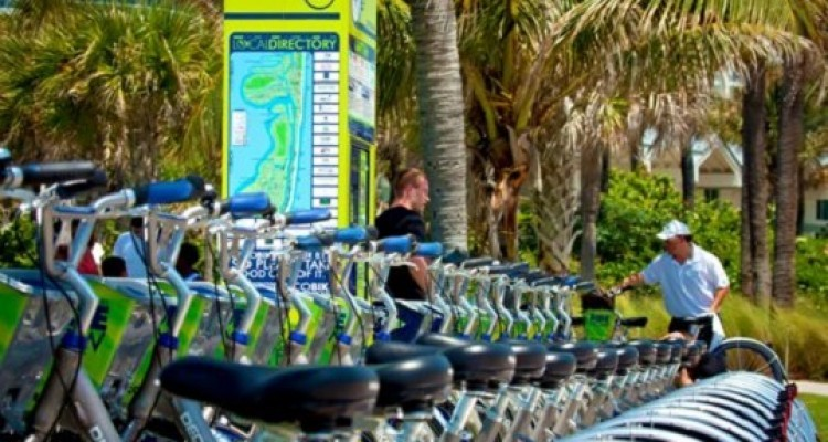 Bicycle rentals in South Beach